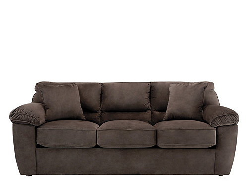 Amazing Rockport Microfiber Queen Sleeper Sofa - Chocolate | Raymour u0026 Flanigan microfiber sleeper sofa