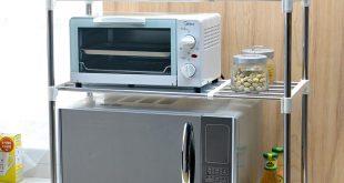 Stunning Double layer microwave oven shelf storage shelf stainless steel oven  microwave microwave storage shelf
