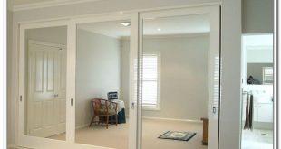 Modern mirrored closet doors sliding photo - 3 mirrored sliding closet doors