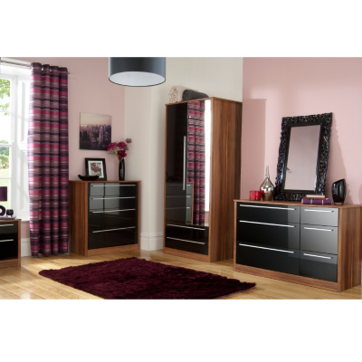 Modern Black Gloss Bedroom Furniture Sets Duashadi walnut black gloss bedroom furniture