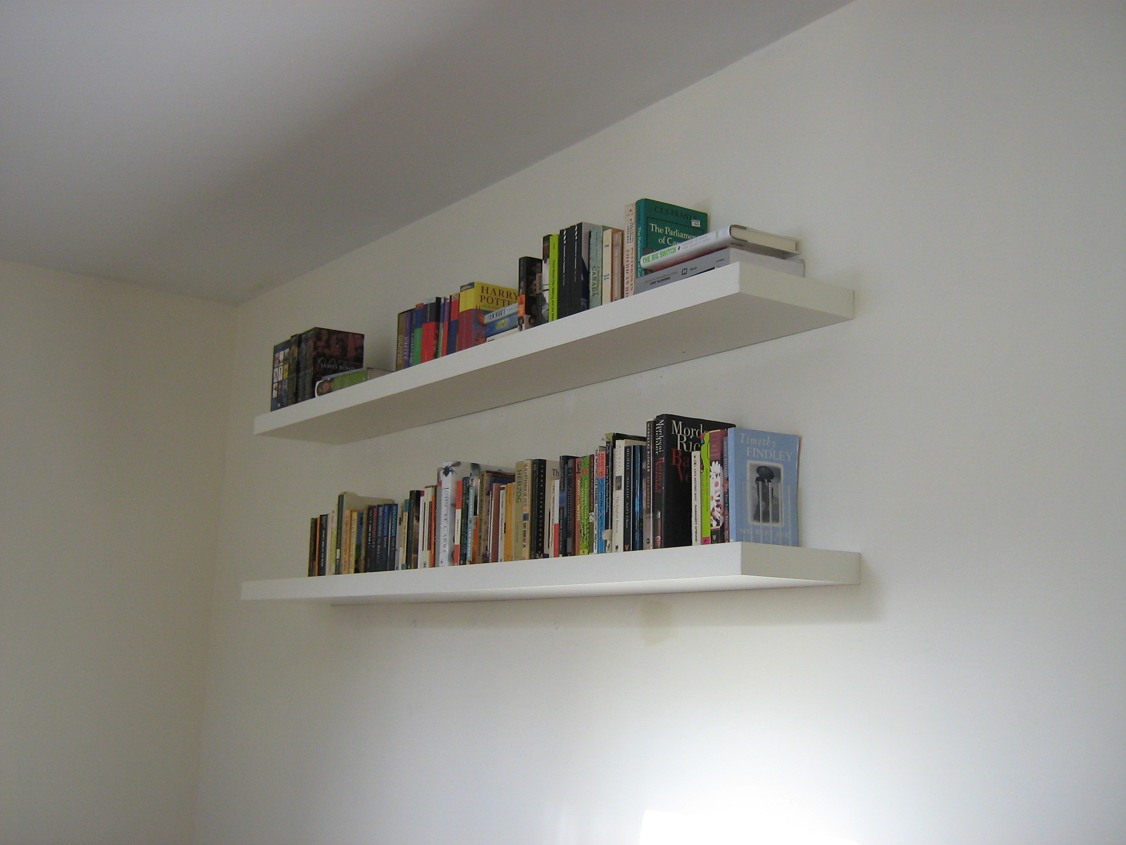 Modern Book Wall Shelves Gallery With Design Enhancement : Contemporary Books  Floating Shelves white wall bookshelves