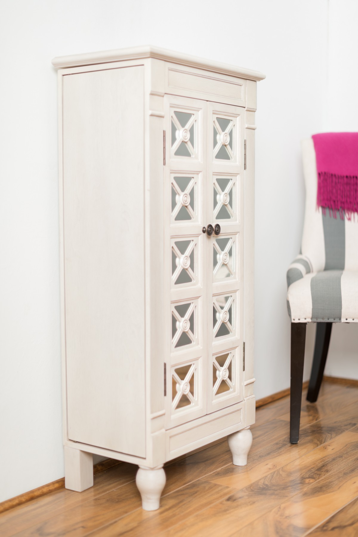 Modern Celine Century White Jewelry Armoire ... white jewelry armoire