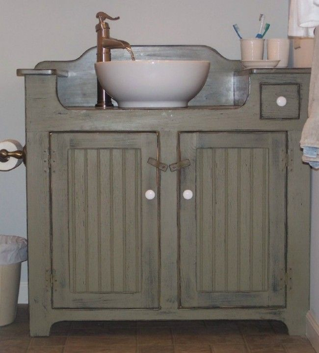 Modern Cozy Home Country Shoppe offers quality Primitive and Country Decor and  Custom country style bathroom vanities and sinks