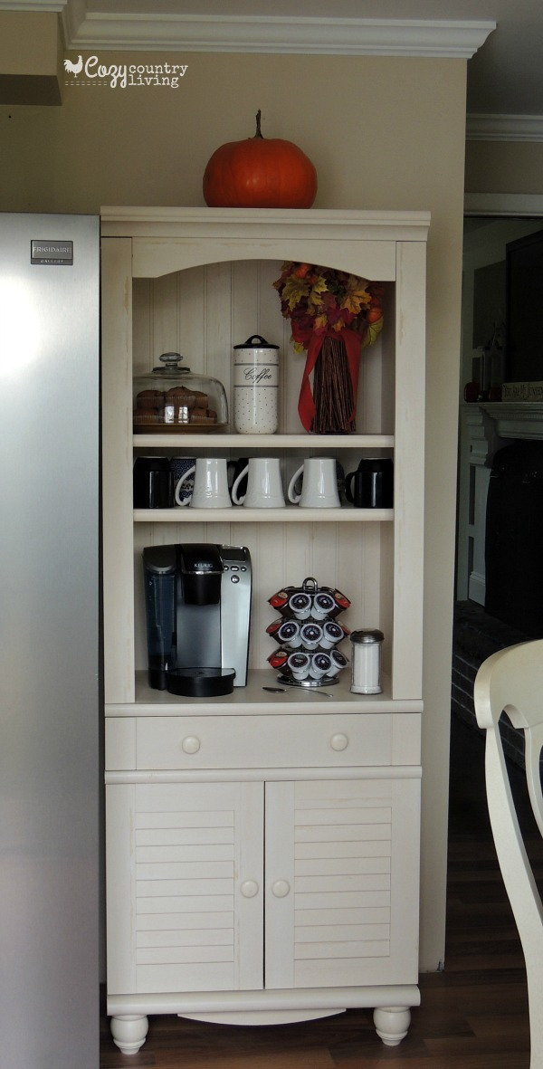 Modern Create your Own Cozy Coffee Bar or Coffee Nook using a shelf! home coffee bar furniture