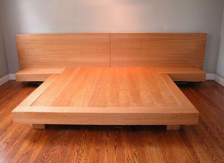 Modern Custom Made King Size Platform Bed king size platform bed