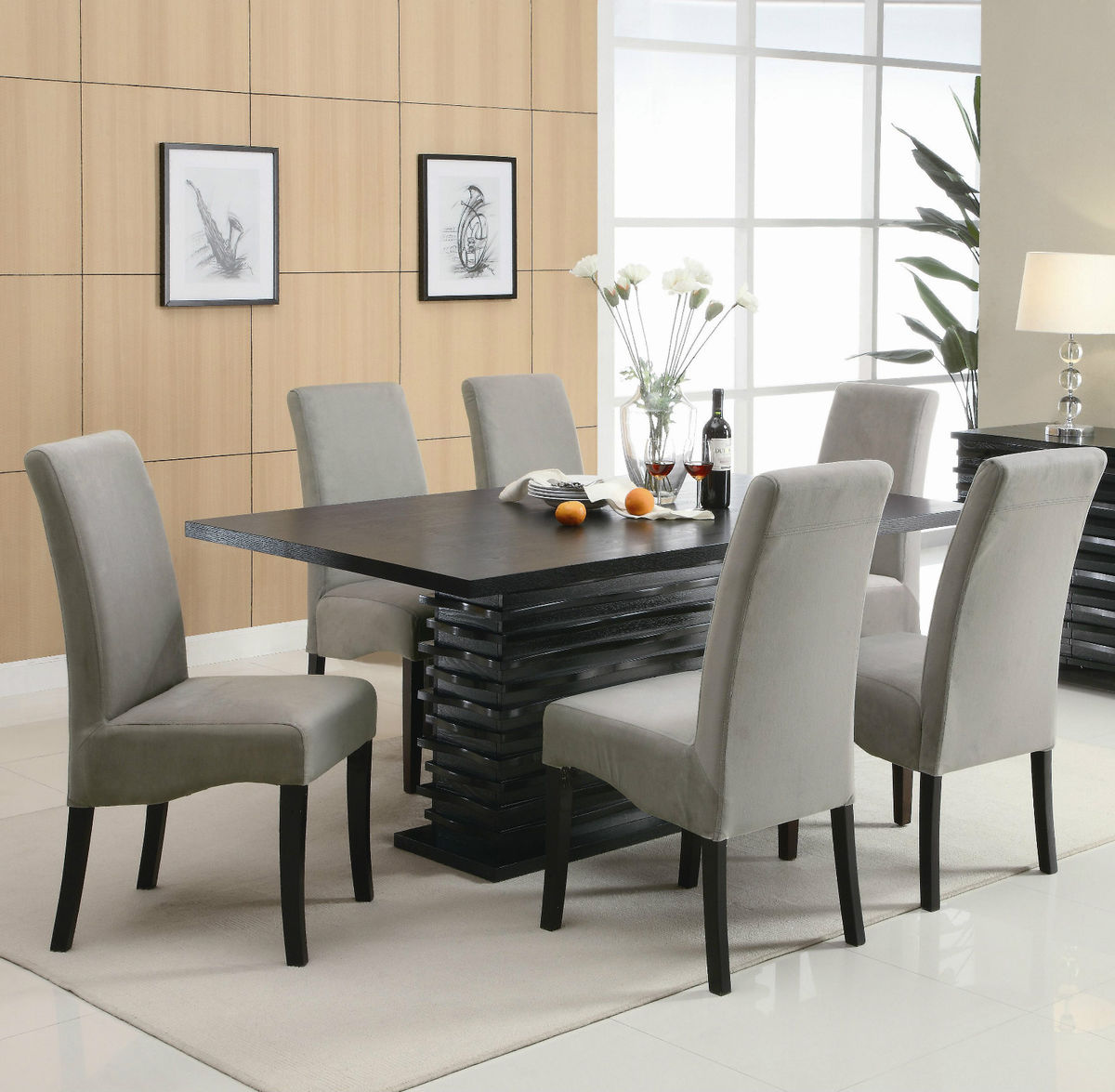 modern furniture dining room. Best Pretty Dining Table With Chairs On Contemporary Black Modern Room Furniture