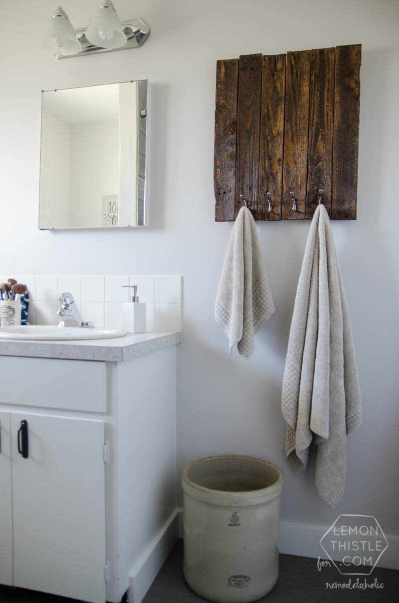 Modern DIY Bathroom Remodel on a Budget (and thoughts on renovating in phases) diy bathroom renovation