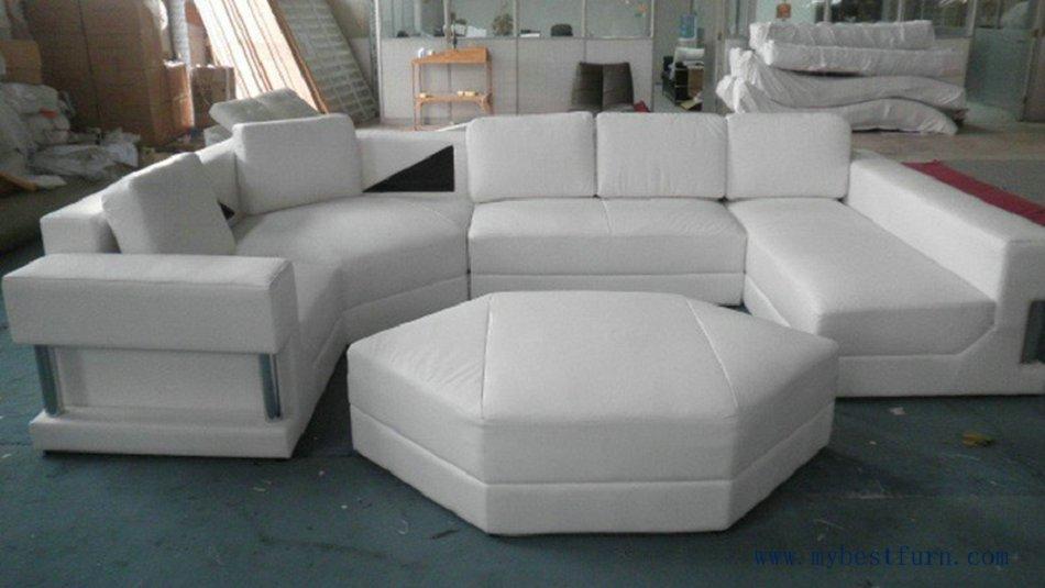Modern Free Shipping Large U Shaped Real leather Sofa, Large house furniture, u shaped leather sofa