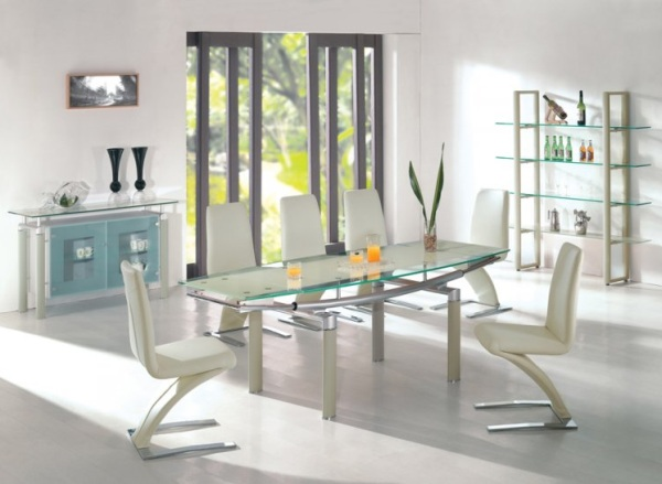 A luxurious dinner with modern dining table sets