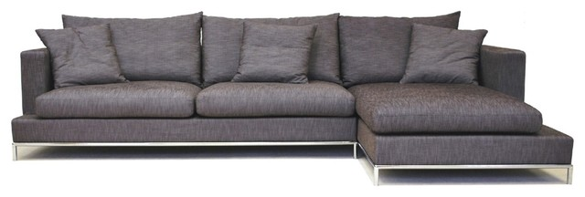 Beautiful grey-sectional-sofa-5 modern gray sectional sofa