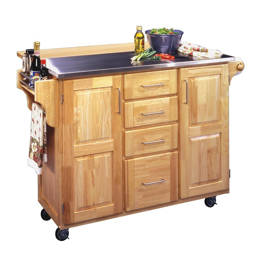 Modern Home Styles 52.5-in L x 18-in W x 36-in H kitchen carts and islands