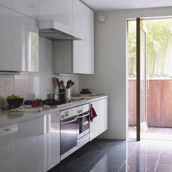 Modern ... kitchens White worktop housetohome. Glossy ... white kitchen work tops