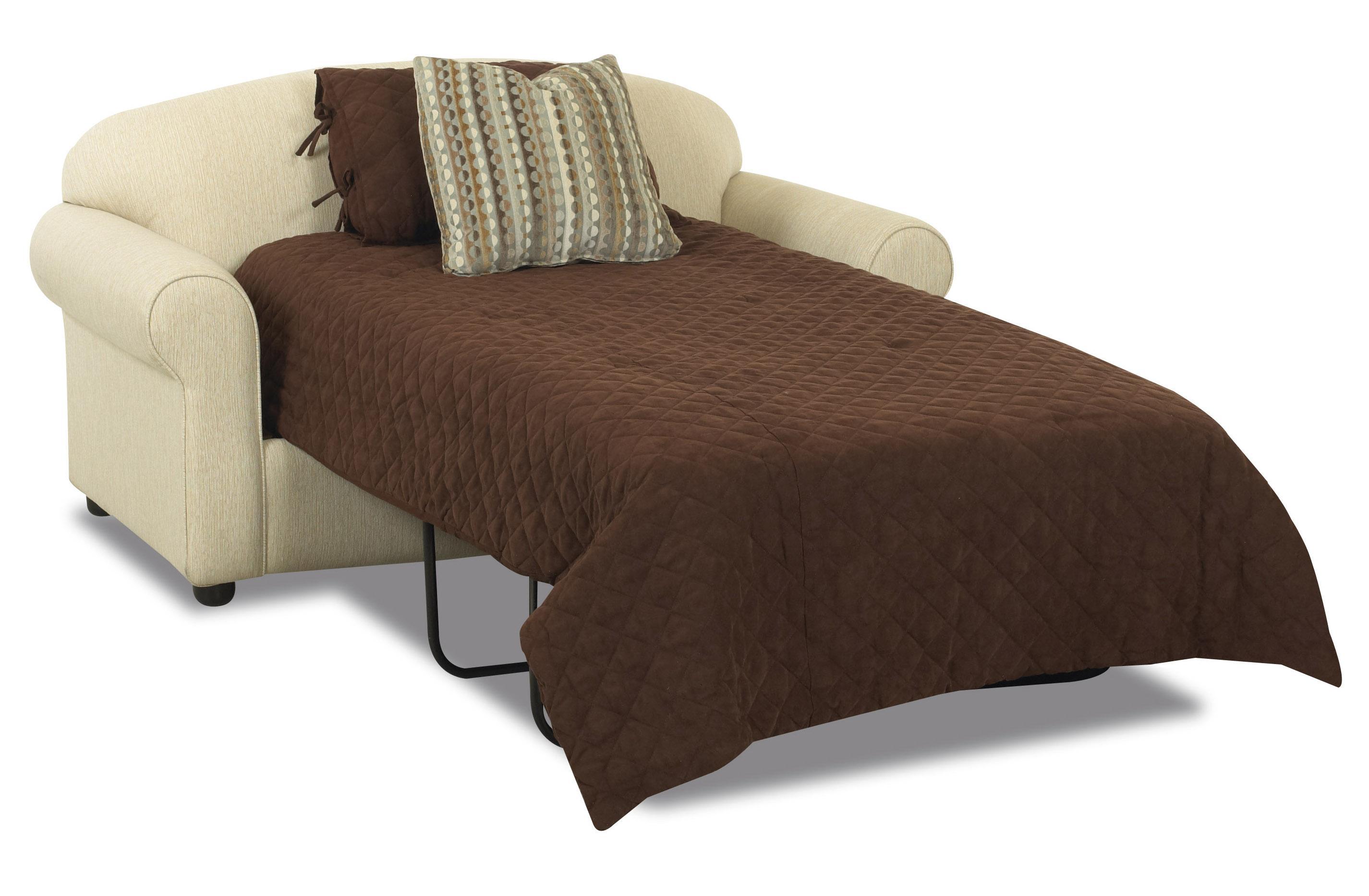 Modern Klaussner Possibilities Twin Sleeper Sofa - Item Number: 500ITSLP loveseat sleeper sofa
