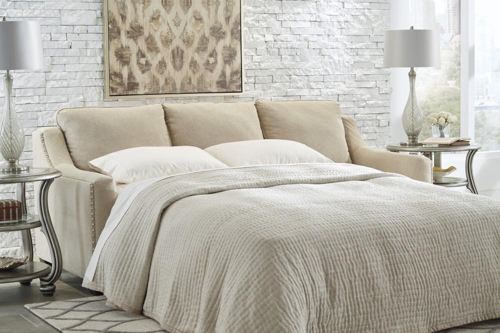 Modern Mauricio - Linen - Queen Sofa Sleeper linen sleeper sofa