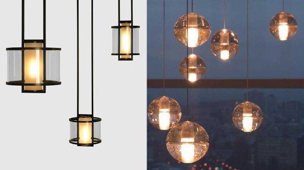 Modern Metal Glass Modern Outdoor Pendant Lighting Plastic Round Shaped  Tube Orange Hanging Outdoor Light Fixtures