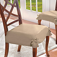 Luxury Microsuede Dining Room Chair Seat Covers Cushion