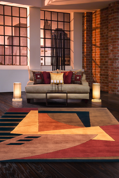 Modern ... New Wave Collection now. Momeni-NW22-Pomegranate momeni rugs new wave collection