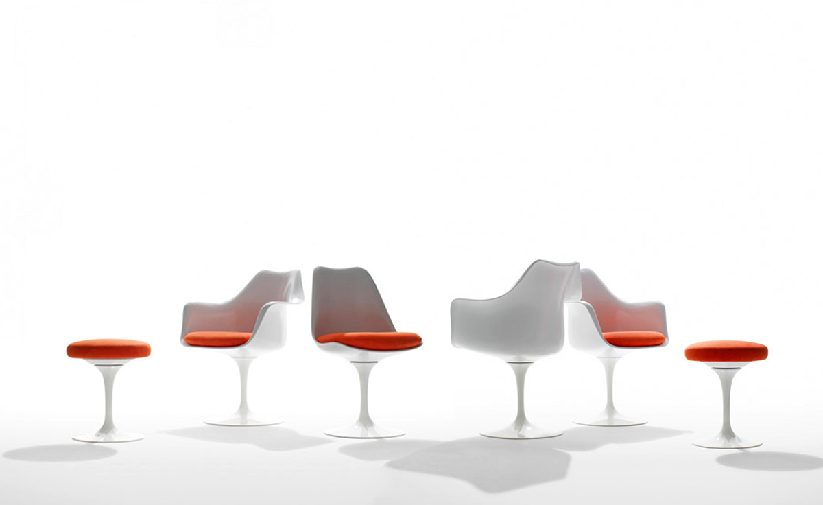 Modern overview ... white tulip chair