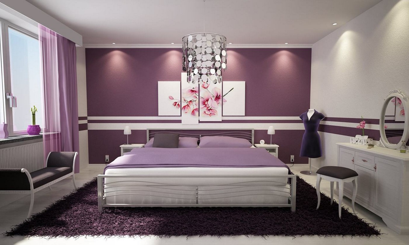 Modern Purple Bedroom Wall Decor · Purple Bedroom Ideas purple bedroom ideas for adults