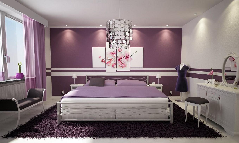 Modern Purple Bedroom Wall Decor · Purple Bedroom Ideas Purple Bedroom  Ideas For Adults
