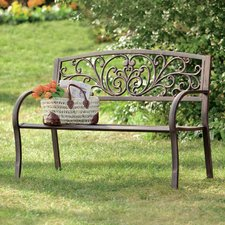 Modern QUICK VIEW. Blooming Iron Garden Bench outdoor metal benches