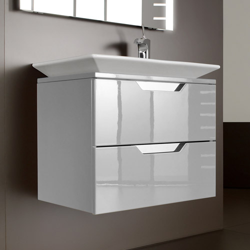Modern Roca   Kalahari N 2 Drawer Vanity Unit With W800mm Basin   0 TH