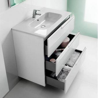Modern Roca Victoria-N 3 Drawer Vanity Unit with Basin roca bathroom vanity units