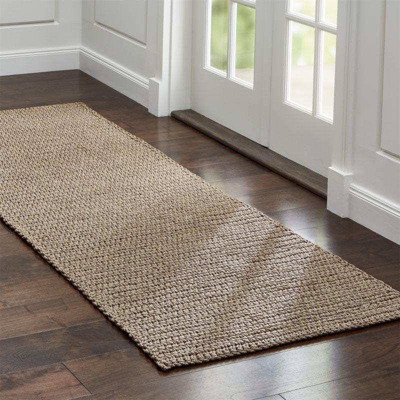 Modern Salome Sand Indoor/Outdoor Rug kitchen runner rugs