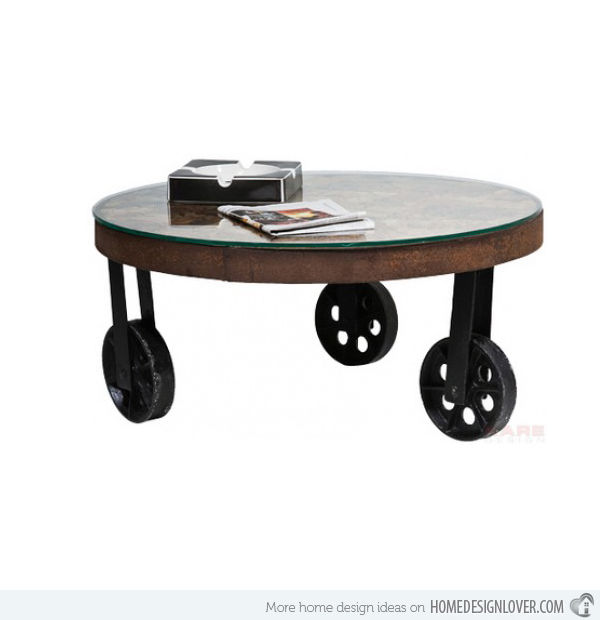 Modern Salvaged Table Unique Round Coffee Tables