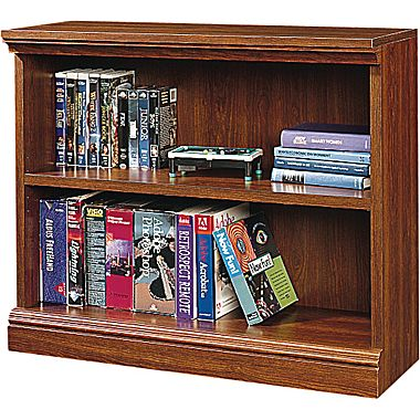 Modern Sauder Premier 36u0027u0027 2-Shelf Bookcase, Planked cherry (1782-100 sauder 2 shelf bookcase