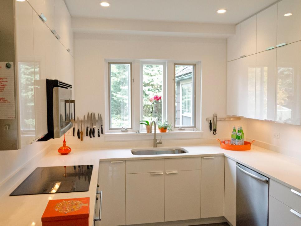 Modern Small Kitchen Design: Smart Layouts u0026 Storage Photos | HGTV kitchen ideas for small kitchens