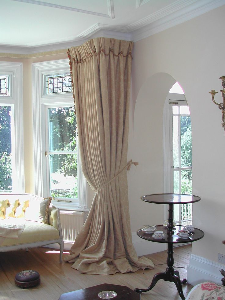Simple and Stylish Bay Window Curtains - darbylanefurniture.com