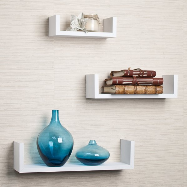 Modern White Wall Shelves Youu0027ll Love | Wayfair white wall shelves