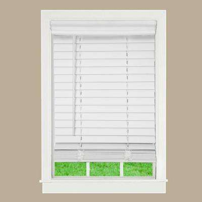Modern White ... white wooden blinds