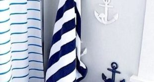 Stunning Blue and White Anchor Hooks from Pottery Barn Kids: http://www. Anchor RoomBathroom nautical anchor bathroom decor
