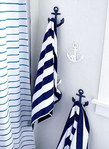Stunning Blue And White Anchor Hooks From Pottery Barn Kids Http Www