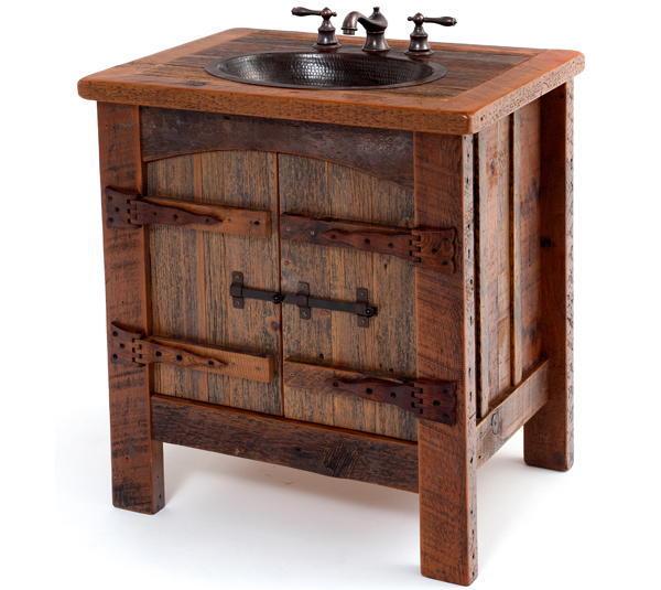 New BATHROOM rustic wood furniture