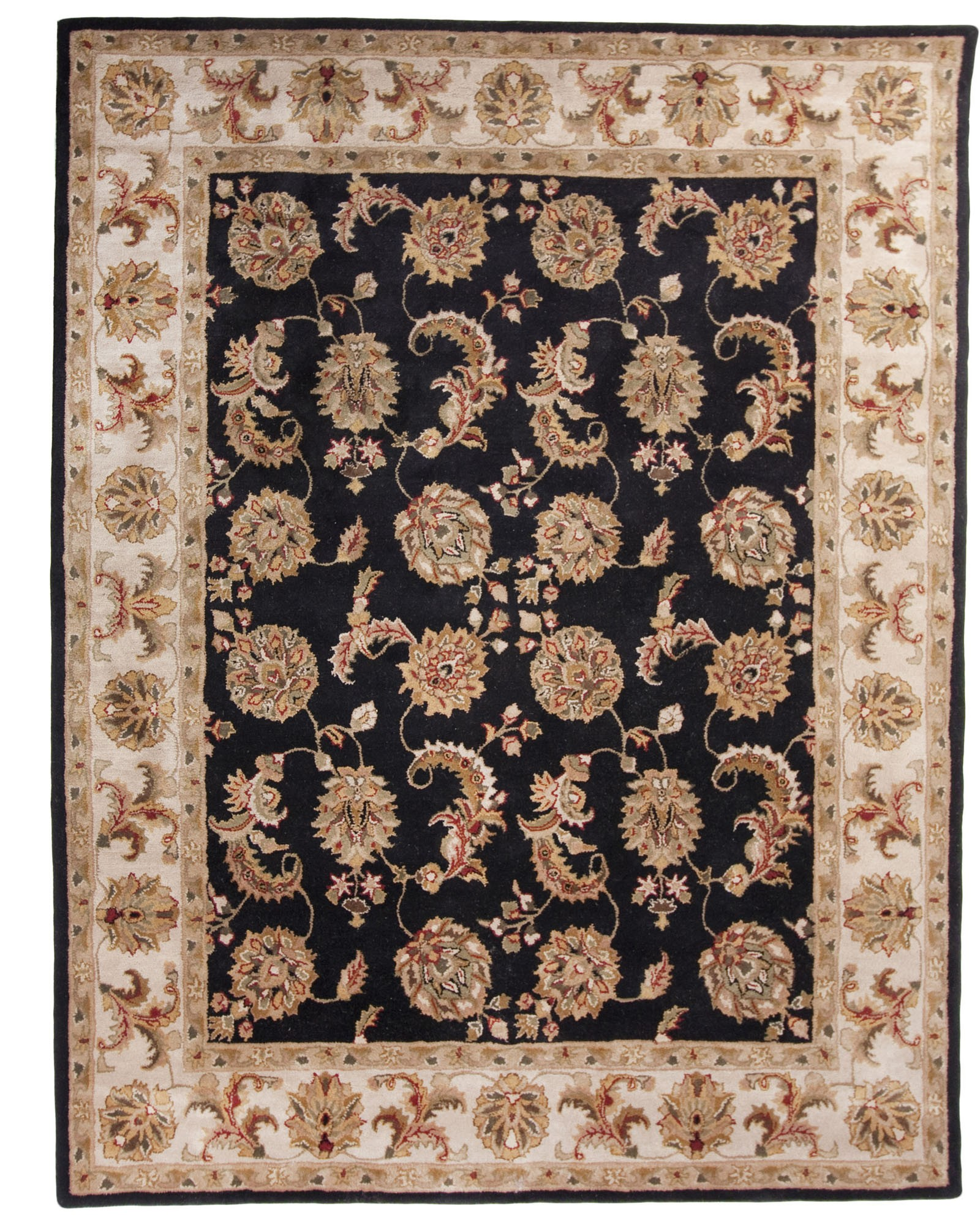 New Black Hand Tufted Traditional Wool Area Rug Carpet traditional wool rugs