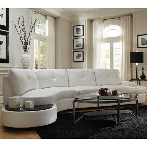 New Circa Contemporary Sectional. White Leather ... white leather couch living room ideas