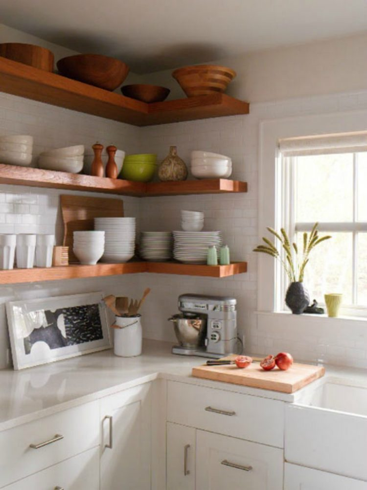 New floating kitchen shelves are perfect to display your stuff shelving ideas for kitchen