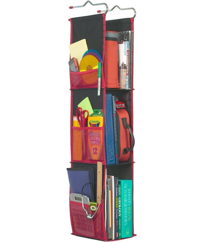 New ... Hanging Locker Organizer - Black locker organizer shelves