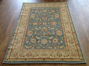 New Image is loading RUG-RUNNER-TRADITIONAL-PERSIAN-BLUE-TEAL-GOLD-BEIGE- large traditional rugs