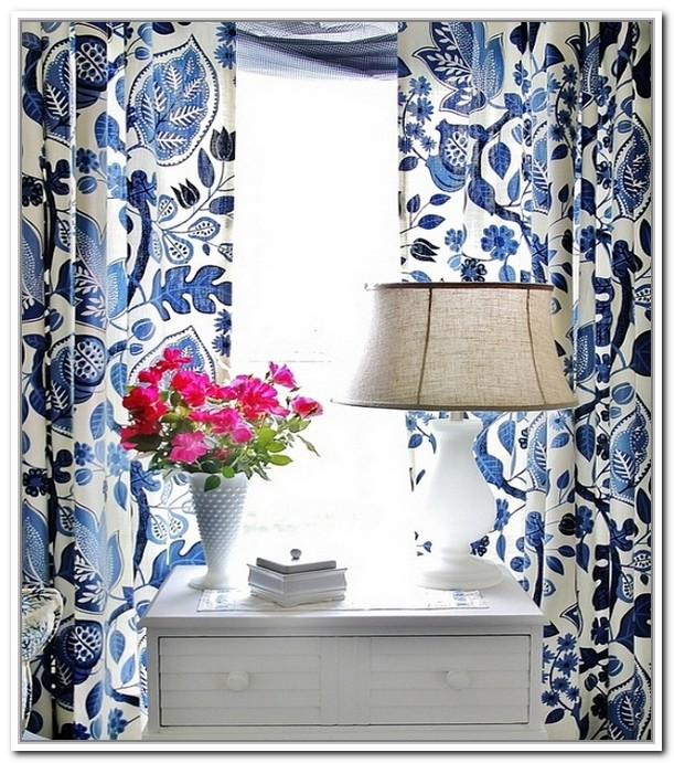 New Navy Blue Floral CurtainsDoors and Windows Gallery. Blue And White  CurtainsFloral ... blue and white floral curtains