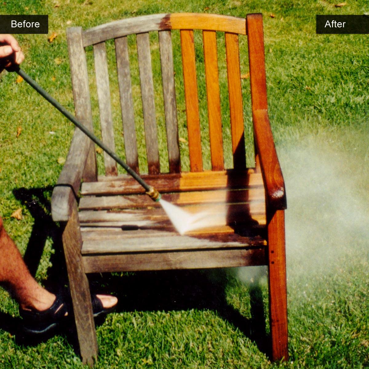 New Power Washed Teak Furniture Staining Teak Outdoor Furniture