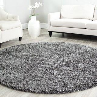 New Safavieh Handmade Malibu Charcoal Grey Shag Rug (7u0027 Round) round shag rug