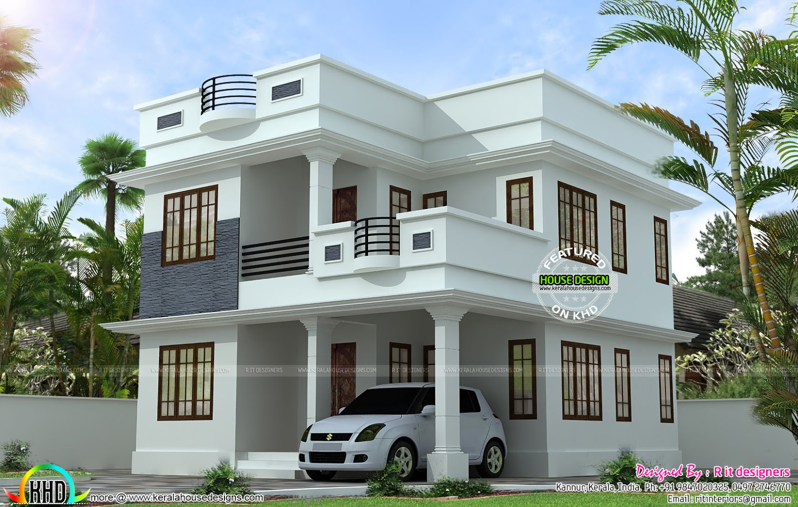 Chic Neat and simple small house plan - Kerala home design and floor plans new simple home designs