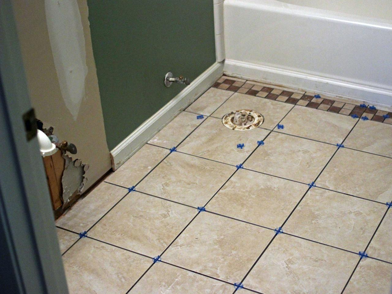 New Step 6 floor tiles for bathrooms