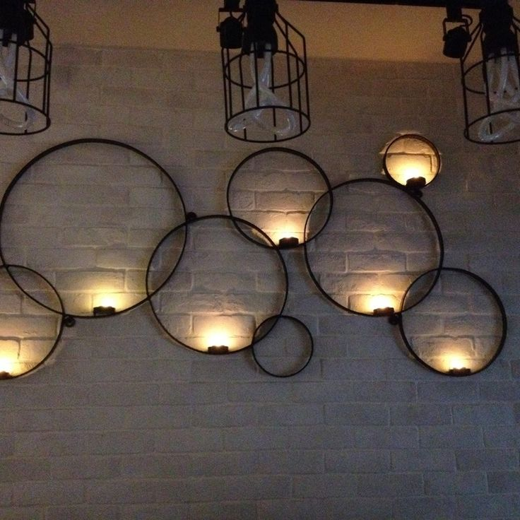 New Wall Mounted Votive Candle Holder Of Many Circles More Wall Mounted  Candle Holders