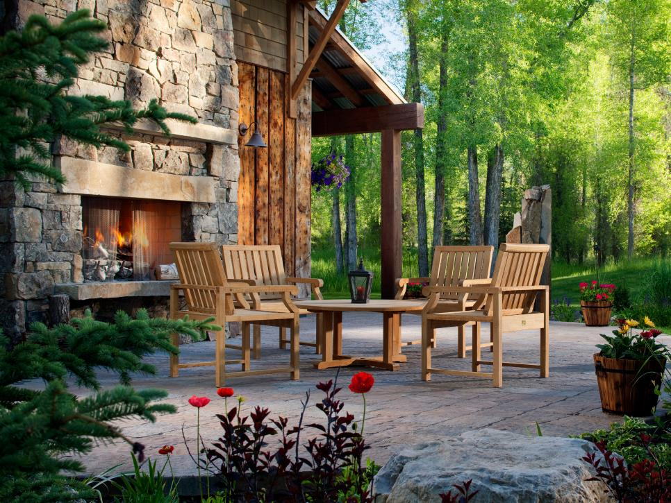 Unique Decked Out outdoor fireplace patio