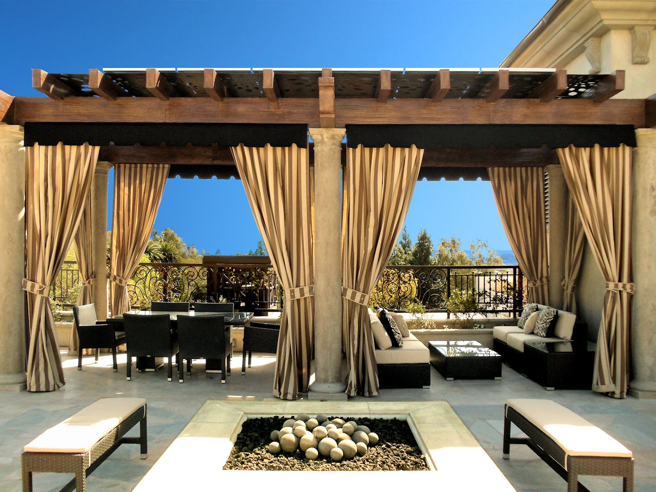 Marvelous Through Patio Curtains, You Can Decorate Your Home